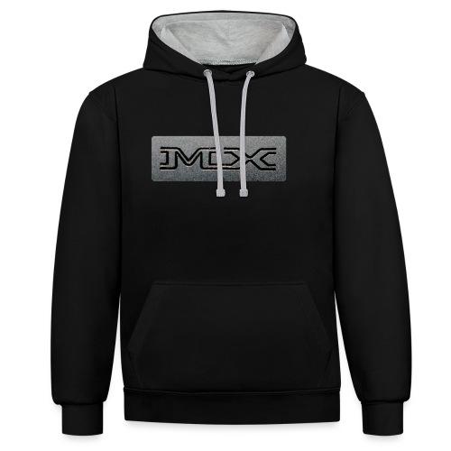 MX - Felpa con cappuccio bicromatica