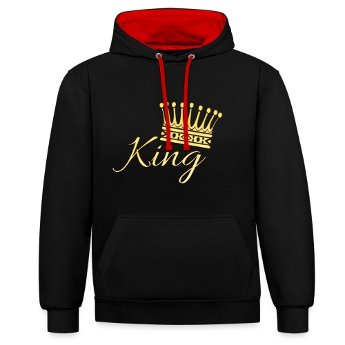 King Or by T-shirt chic et choc - Sweat-shirt contraste