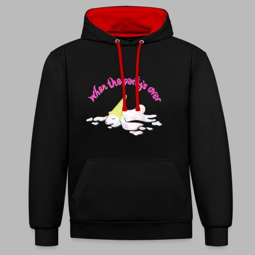 Zonked - Contrast Colour Hoodie