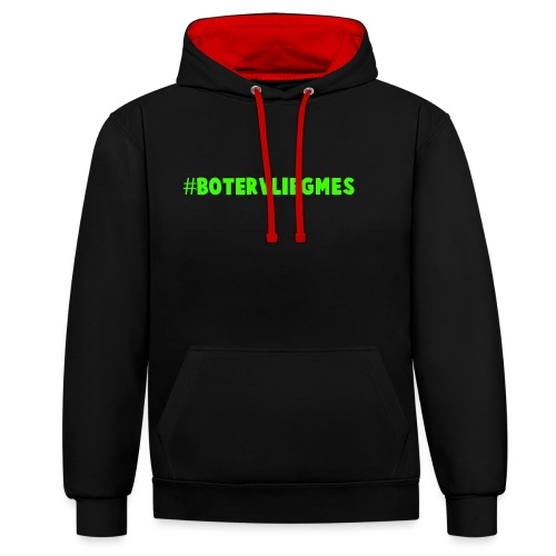 #Botervliegmes T-shirt (vrouwen) - Contrast hoodie