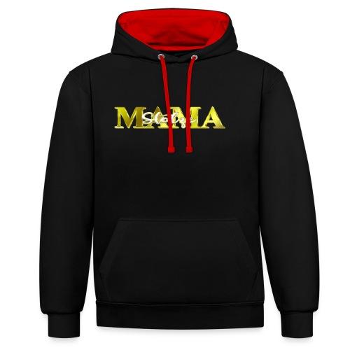 Stolze Mama Geschenk Muttertag - Kontrast-Hoodie