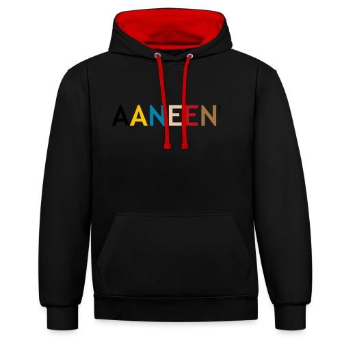 AANEEN_Alleen_Letters - Contrast hoodie