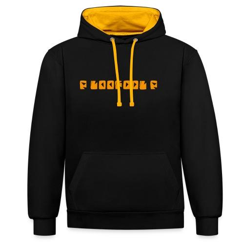 P loofool P - Orange logo - Kontrast-hettegenser