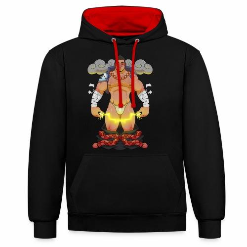 Thunder, Y'know - Contrast Colour Hoodie