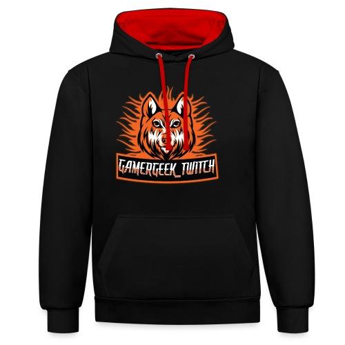 GamerGeek Logo XXXL - Kontrast-Hoodie