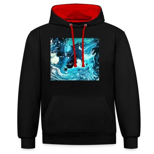 Ocean - Kontrast-Hoodie