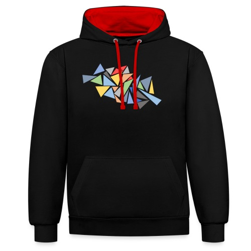 Modern Triangles - Contrast Colour Hoodie