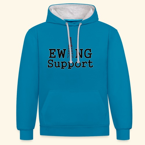 Ewing Support - Contrast Colour Hoodie