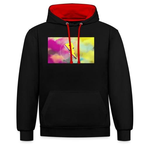 lightning bolt - Contrast Colour Hoodie