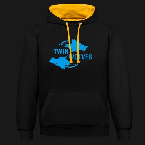 Twin Wolves Studio - Felpa con cappuccio bicromatica