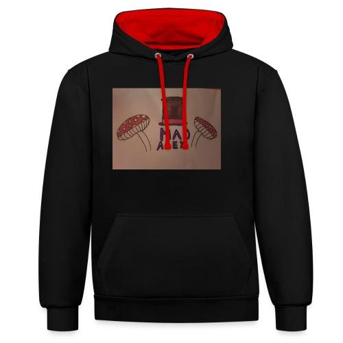 Mad Alex Logo - Contrast Colour Hoodie