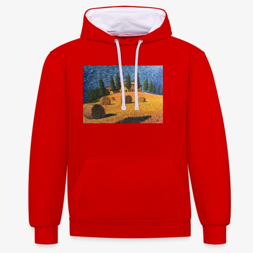 tuscany - Contrast Colour Hoodie