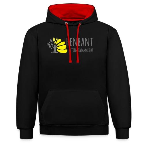 henbant logo - Contrast Colour Hoodie