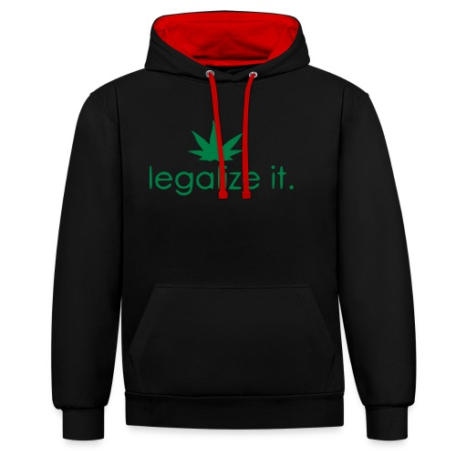 LEGALIZE IT! - Contrast Colour Hoodie