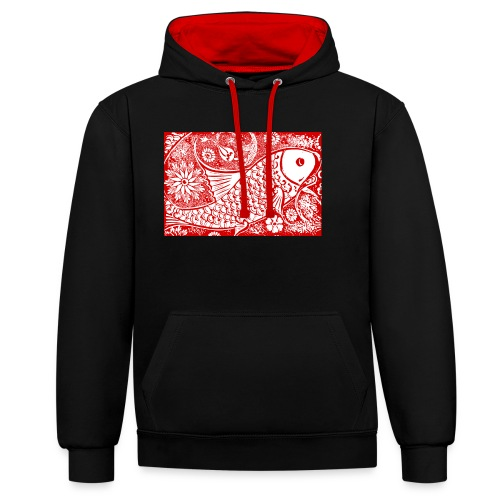 Fish in the sea - Contrast hoodie