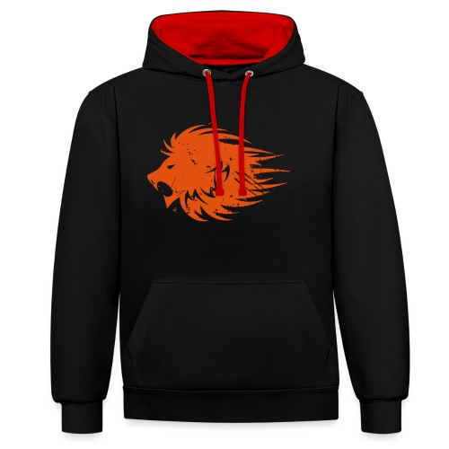 MWB Print Lion Orange - Contrast Colour Hoodie