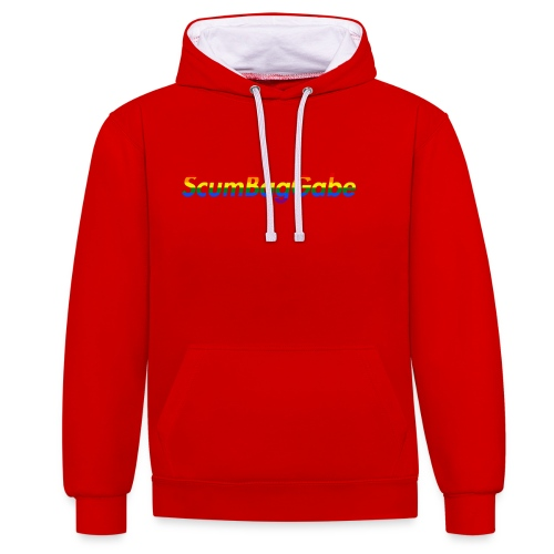 ScumBagGabe Multi Logo XL - Contrast Colour Hoodie