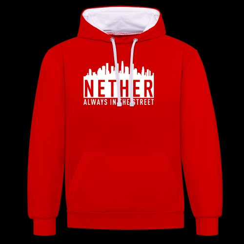 Nether - Always in the Street - Felpa con cappuccio bicromatica