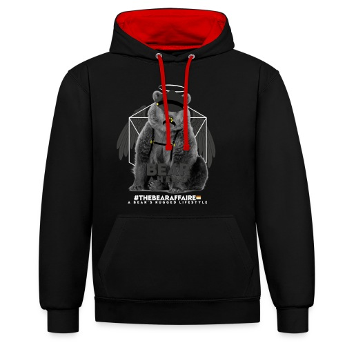 TBA Shirts Male BEARLINE Daddy Bear - Kontrast-Hoodie