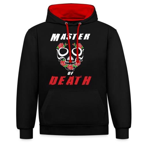 Master of death - white - Bluza z kapturem z kontrastowymi elementami