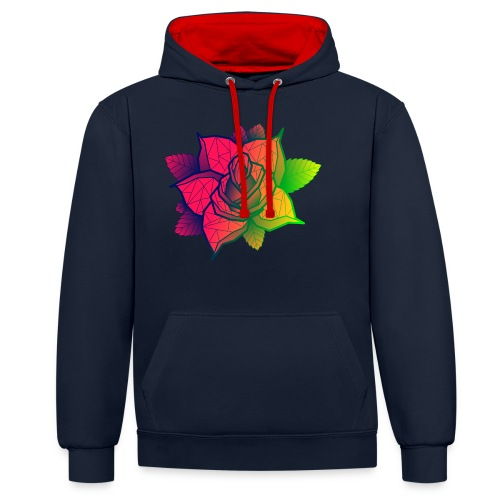 rose tricolore - Sweat-shirt contraste