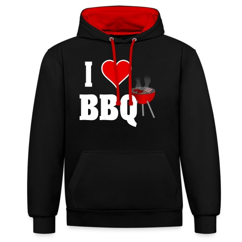 BBQ Barbecue - Kontrast-Hoodie