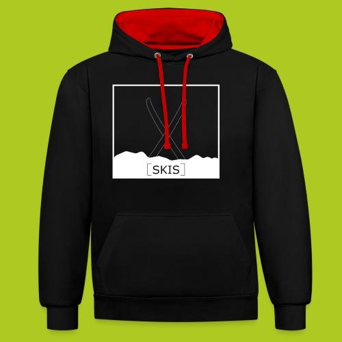 skis - Sweat-shirt contraste