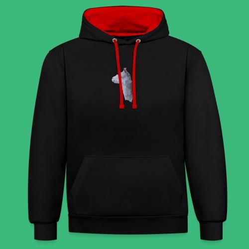 Lama KristalArt / alle kleuren - Contrast hoodie