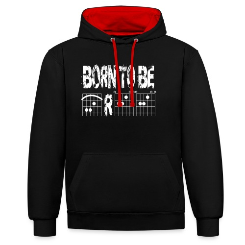 Born to be free in guitar chords - Contrast Colour Hoodie