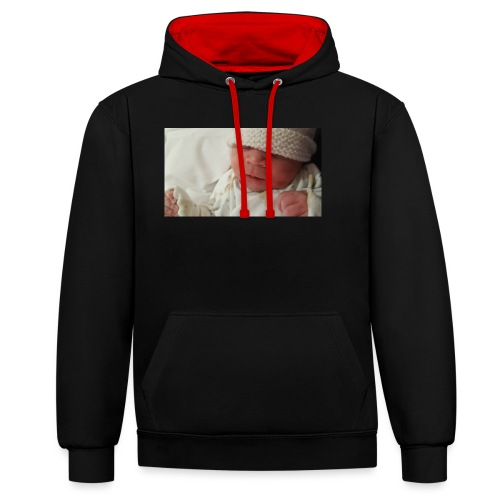baby brother - Contrast Colour Hoodie