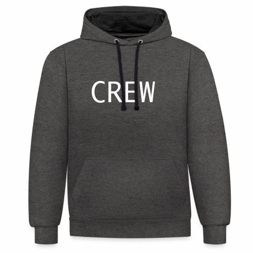 Crew Shirt - Kontrast-Hoodie