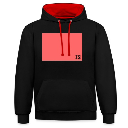 JustSquares Roze - Contrast hoodie