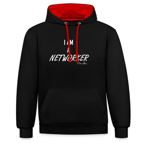 I AM A NETWORKER - Sweat-shirt contraste
