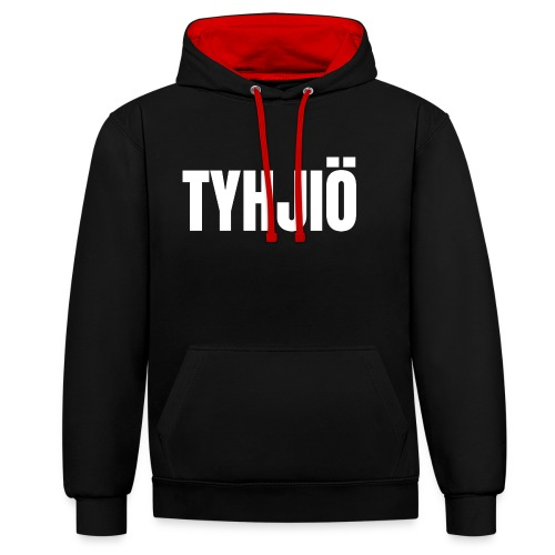 TYHJIÖ Logo White - Contrast Colour Hoodie
