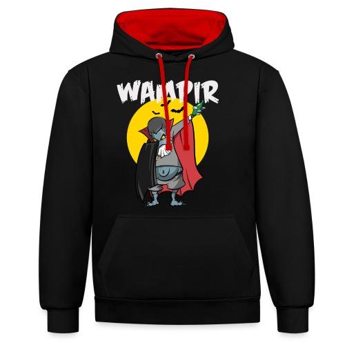 Wampir - lustiges Vampir Bierbauch Fun T-Shirt - Kontrast-Hoodie