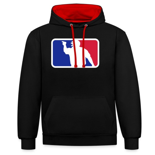 Baseball Umpire Logo - Contrast Colour Hoodie