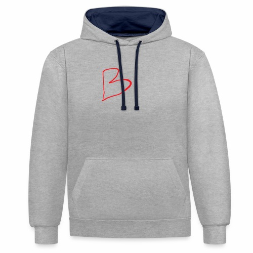 limited edition B - Contrast Colour Hoodie