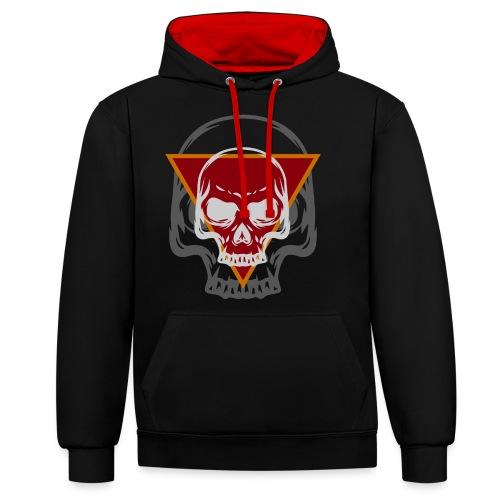 Schädel Skull Skulls Geschenkidee Totenkopf - Kontrast-Hoodie
