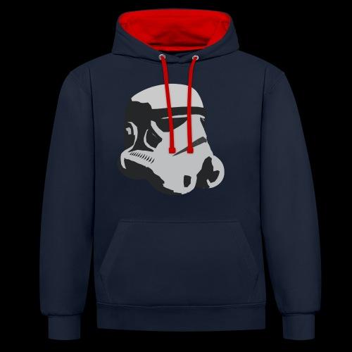 Stormtrooper Helmet - Contrast Colour Hoodie
