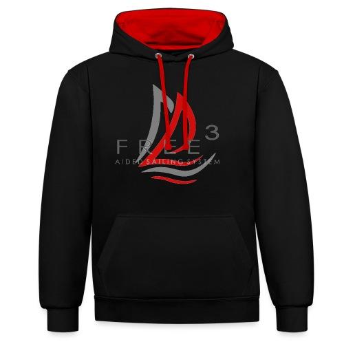 Free3 Aided Sailing System - Felpa con cappuccio bicromatica