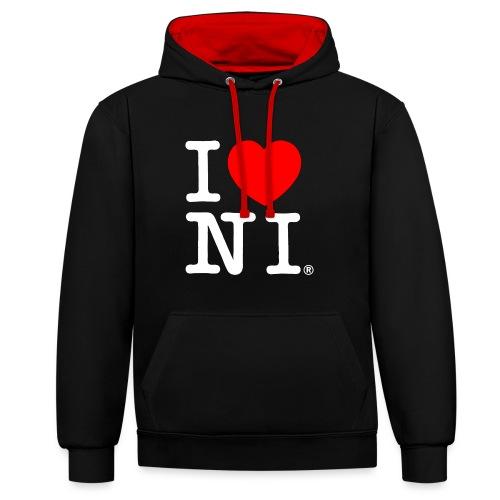 I love NI - Contrast Colour Hoodie