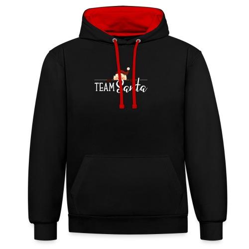 Team Santa Outfit für Familien Weihnachtsoutfit - Kontrast-Hoodie