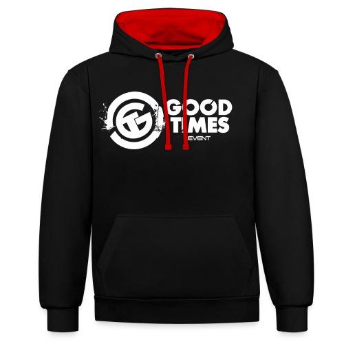 GOOD TIMES LOGO FINAL png - Kontrast-Hoodie