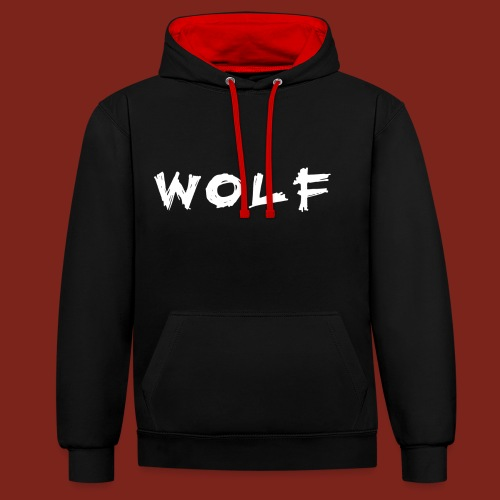 Wolf Font 2 png - Contrast hoodie