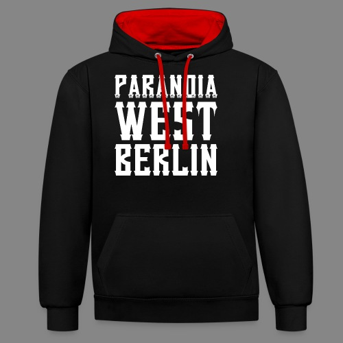 Paranoia 2016 png - Kontrast-Hoodie