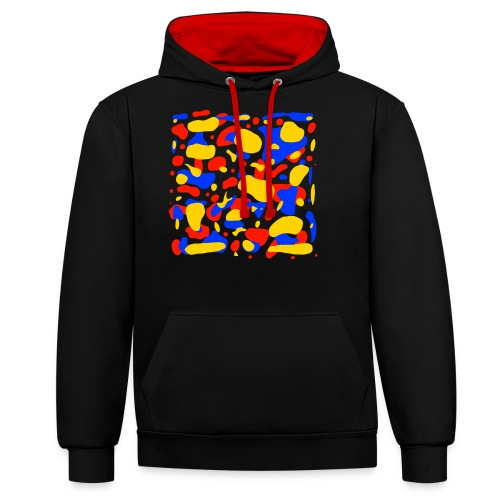 Red,Yellow, Blue - Contrast Colour Hoodie