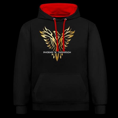Golden Phoenix Design - Contrast Colour Hoodie