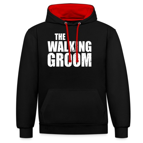 The walking groom Bräutigam Junggesellenabschied - Kontrast-Hoodie