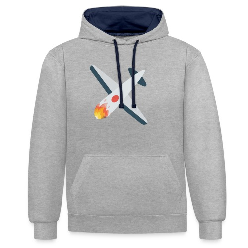 Falling Plane - Contrast Colour Hoodie