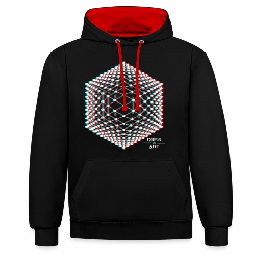 Techno / trance / illusion / DREW ART - Sweat-shirt contraste